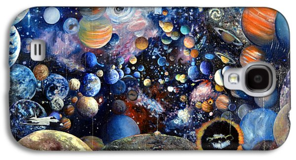 Jet Star Paintings Galaxy S4 Cases - Planet Collage Galaxy S4 Case by Walter James Artist