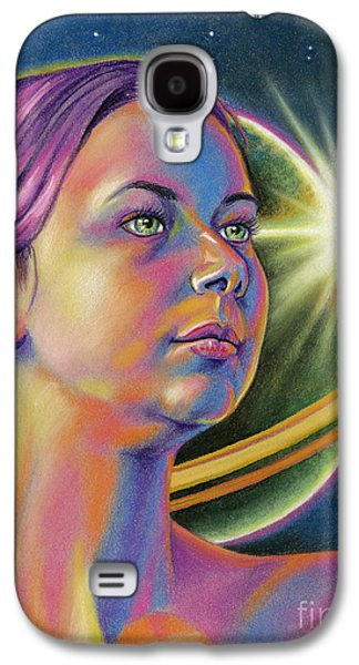 Science Fiction Pastels Galaxy S4 Cases - Planetary Princess Galaxy S4 Case by Adesina Sanchez