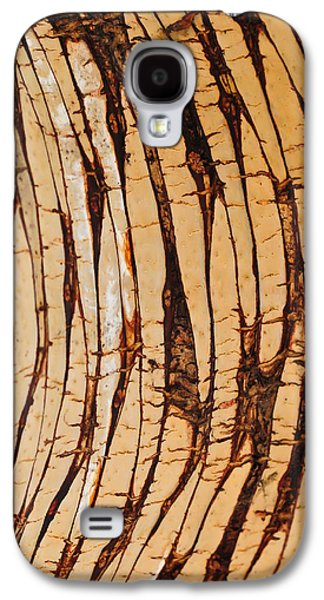 Modern Abstract Pyrography Galaxy S4 Cases - Plant Pattern Galaxy S4 Case by Artist Jacquemo