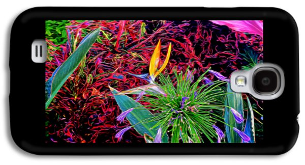 Nature Abstract Galaxy S4 Cases - Plants 10 In Abstract Galaxy S4 Case by Kristalin Davis