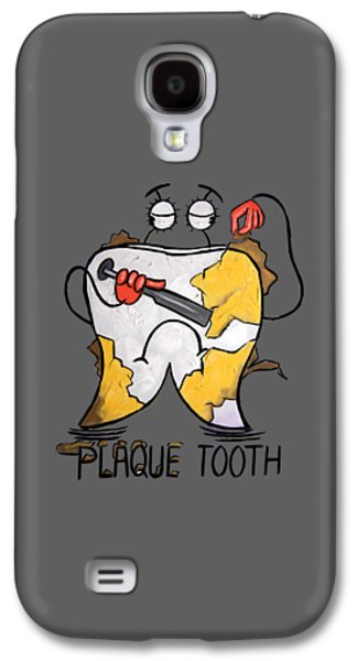Shower Digital Galaxy S4 Cases - Plaque Tooth T-shirt Galaxy S4 Case by Anthony Falbo