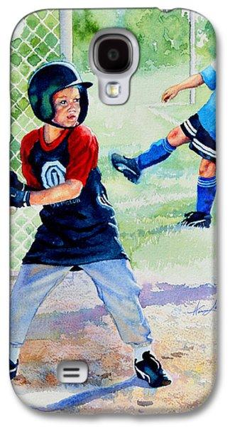 Kids Sports Art Galaxy S4 Cases - Play Ball Galaxy S4 Case by Hanne Lore Koehler