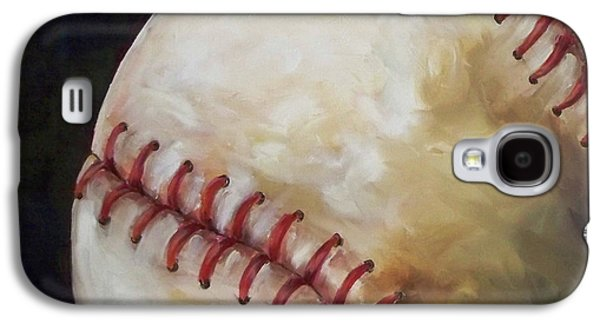 Red Sox Paintings Galaxy S4 Cases - Play Ball Galaxy S4 Case by Kristine Kainer