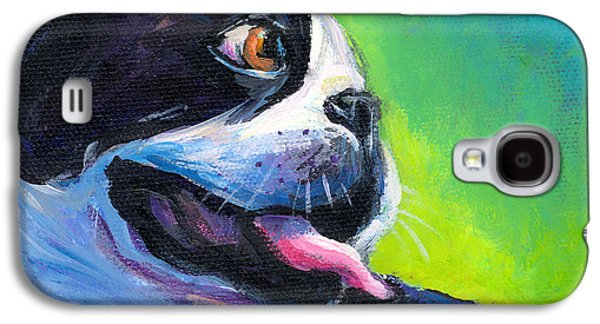 Austin Drawings Galaxy S4 Cases - Playful Boston Terrier Galaxy S4 Case by Svetlana Novikova