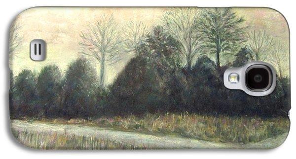 Winter Scene Pastels Galaxy S4 Cases - Pleasant Grove Galaxy S4 Case by Elizabeth  Ellis