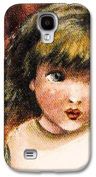 Girl Galaxy S4 Cases - Please Love Me Galaxy S4 Case by Hazel Holland