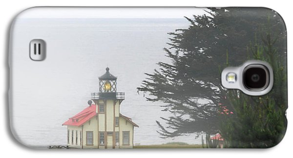Coast Highway One Galaxy S4 Cases - Point Cabrillo Light Station CA - Lighthouse in damp costal fog Galaxy S4 Case by Christine Till