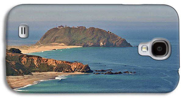 Coast Highway One Galaxy S4 Cases - Point Sur Lighthouse on Central Californias coast - Big Sur California Galaxy S4 Case by Christine Till