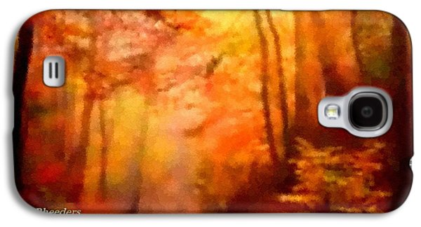 Abstract Digital Pastels Galaxy S4 Cases - Pointelist Forest Road Scene. H A Galaxy S4 Case by Gert J Rheeders