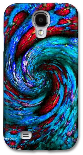 Abstract Digital Pastels Galaxy S4 Cases - Pointelist Fractal Swirl Catus 1 no. 1 V a Galaxy S4 Case by Gert J Rheeders