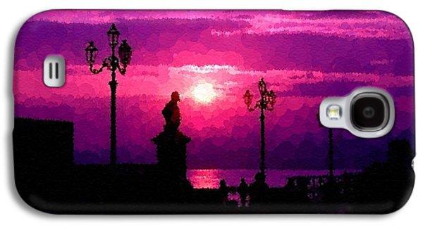 Abstract Digital Pastels Galaxy S4 Cases - Pointelist Italian Sunset H b Galaxy S4 Case by Gert J Rheeders
