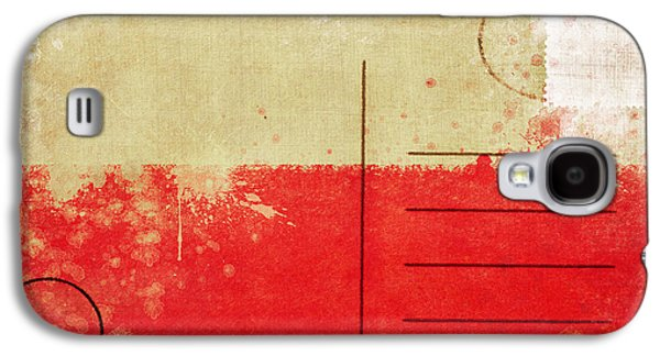 Torn Galaxy S4 Cases - Poland flag postcard Galaxy S4 Case by Setsiri Silapasuwanchai