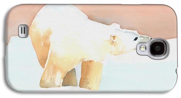 Bear Digital Galaxy S4 Cases - Polar Bear Galaxy S4 Case by Arline Wagner