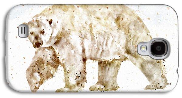 Modern Digital Digital Digital Galaxy S4 Cases - Polar Bear watercolor Galaxy S4 Case by Marian Voicu