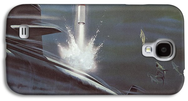 Aquatic Drawings Galaxy S4 Cases - Polaris Surface To Surface Rocket Galaxy S4 Case by American School