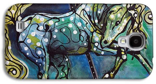 Carousel Horse Paintings Galaxy S4 Cases - Pole Dancer Galaxy S4 Case by Jonelle T McCoy