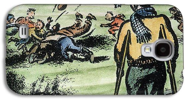 Crutch Galaxy S4 Cases - Polio Cartoon, 1957 Galaxy S4 Case by Granger