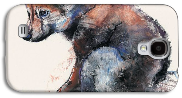 Puppy Drawings Galaxy S4 Cases - Polish Wolf Pup Galaxy S4 Case by Mark Adlington