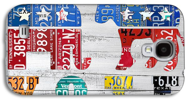 Industrial Mixed Media Galaxy S4 Cases - Political Party Election Vote Republican vs Democrat Recycled Vintage Patriotic License Plate Art Galaxy S4 Case by Design Turnpike