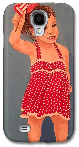 4th July Paintings Galaxy S4 Cases - Polka Dot Patriot Galaxy S4 Case by Paula Newell