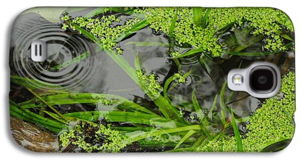 Alga Galaxy S4 Cases - Pond Abstract I Galaxy S4 Case by Merrimon Crawford