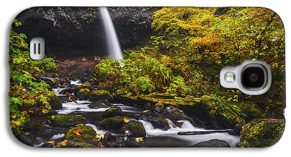 Landscapes Photographs Galaxy S4 Cases - Ponytail falls autumn Galaxy S4 Case by Vishwanath Bhat