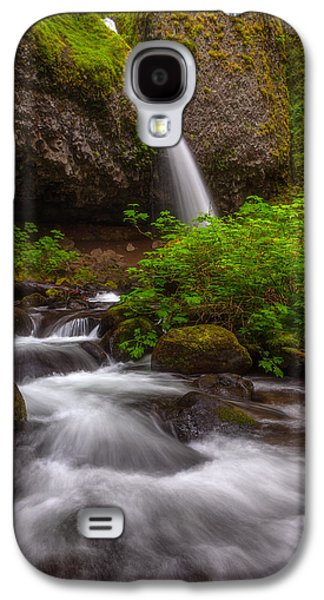 Landscape Acrylic Prints Galaxy S4 Cases - Ponytail Falls Galaxy S4 Case by Darren  White