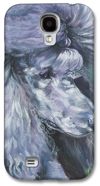 Poodle Galaxy S4 Cases - Poodle silver Galaxy S4 Case by Lee Ann Shepard