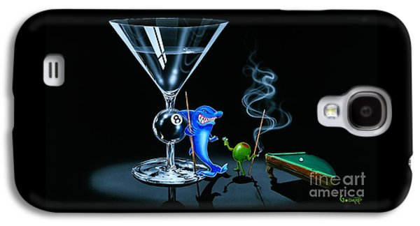 Sharks Paintings Galaxy S4 Cases - Pool Shark Galaxy S4 Case by Michael Godard