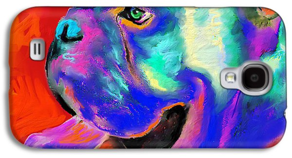 Austin Drawings Galaxy S4 Cases - Pop Art English Bulldog painting prints Galaxy S4 Case by Svetlana Novikova