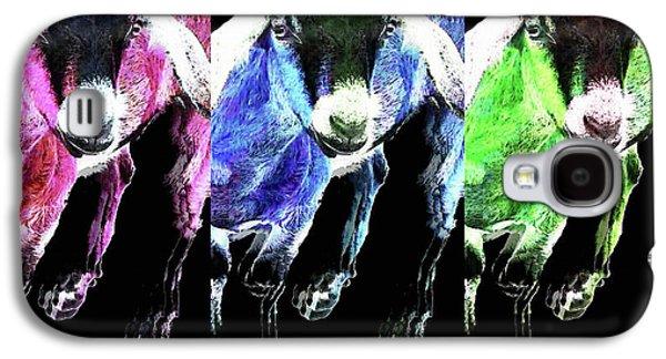 Pop Art Goats Trio - Sharon Cummings Galaxy S4 Case by Sharon Cummings