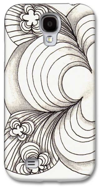 Cherry Blossoms Drawings Galaxy S4 Cases - Popcloud Blossom Galaxy S4 Case by The Sandwich  Woman