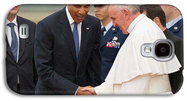 Pope Francis And President Obama Galaxy S4 Case by Mountain Dreams