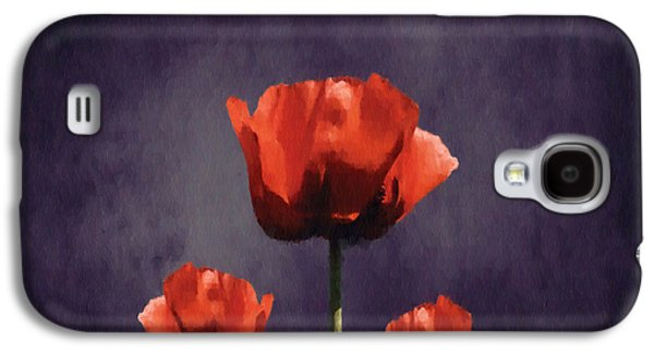 Poppies Fun 01b Galaxy S4 Case by Variance Collections