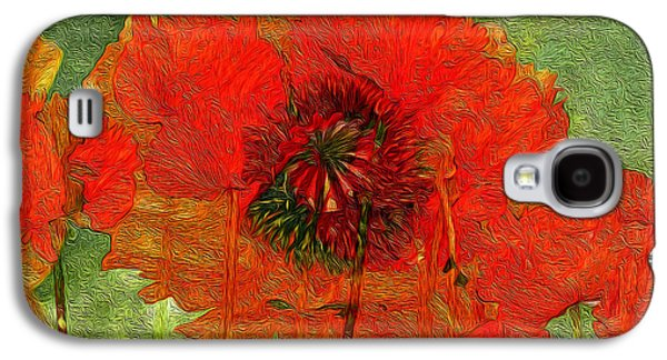 Nature Abstracts Galaxy S4 Cases - Poppy Field 14 Galaxy S4 Case by Lynda Lehmann