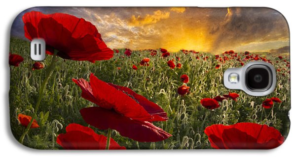 Tennessee Farm Galaxy S4 Cases - Poppy Field Galaxy S4 Case by Debra and Dave Vanderlaan