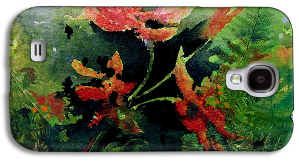 Abstract Digital Paintings Galaxy S4 Cases - Poppy Impressions Galaxy S4 Case by Hanne Lore Koehler
