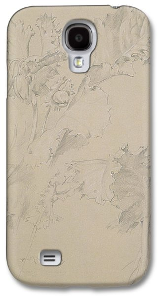 Still Life Pastels Galaxy S4 Cases - Poppy Leaves Galaxy S4 Case by Albert Williams
