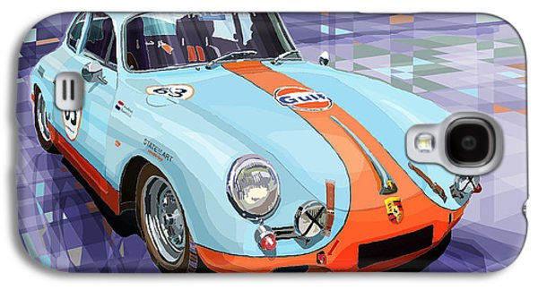 Automotive Galaxy S4 Cases - Porsche 356 Gulf Galaxy S4 Case by Yuriy  Shevchuk