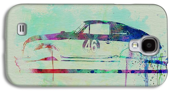 Old Car Drawings Galaxy S4 Cases - Porsche 356 Watercolor Galaxy S4 Case by Naxart Studio