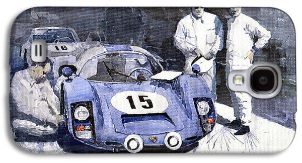 Automotive Galaxy S4 Cases - Porsche 906 Daytona 1966 Herrmann-Linge Galaxy S4 Case by Yuriy  Shevchuk