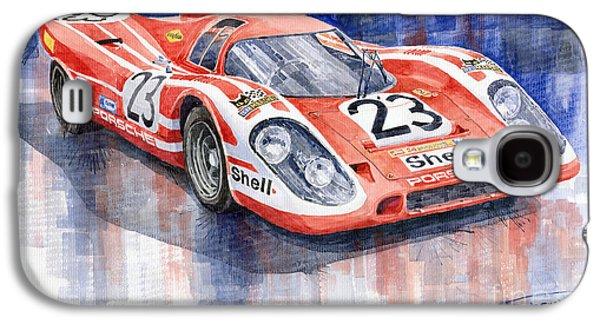 Legend Paintings Galaxy S4 Cases - Porsche 917K Winning Le Mans 1970 Galaxy S4 Case by Yuriy  Shevchuk