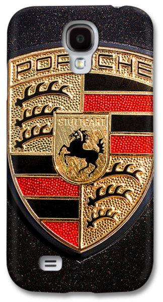 Red Photographs Galaxy S4 Cases - Porsche Emblem -211C Galaxy S4 Case by Jill Reger