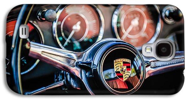 Recently Sold -  - Transportation Photographs Galaxy S4 Cases - Porsche Super 90 Steering Wheel Emblem -1537c Galaxy S4 Case by Jill Reger
