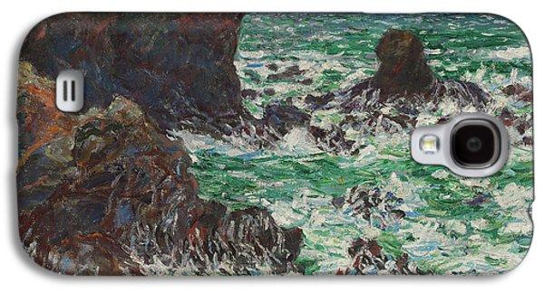 Port Coton, Le Lion, 1886 Galaxy S4 Case by Claude Monet