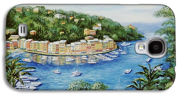 Portofino Italy Galaxy S4 Cases - Portofino Majestic Panoramic View Galaxy S4 Case by Marilyn Dunlap