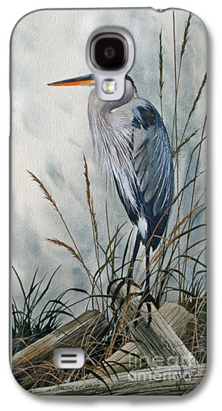 Heron Paintings Galaxy S4 Cases - Portrait in the Wild Galaxy S4 Case by James Williamson