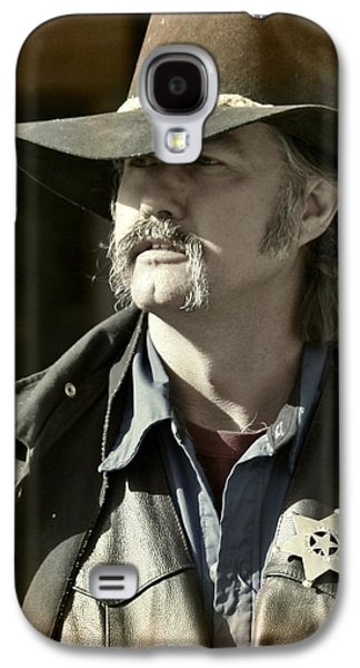 Character Portraits Photographs Galaxy S4 Cases - Portrait of a Bygone Time Sheriff Galaxy S4 Case by Christine Till