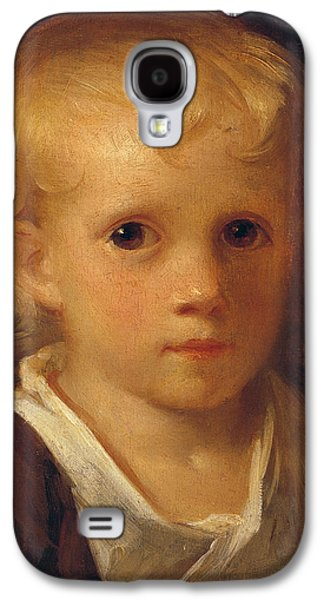 Headshot Galaxy S4 Cases - Portrait of a Child Galaxy S4 Case by Jean-Honore Fragonard
