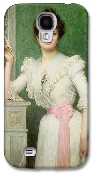 Portrait Of A Lady Holding A Fan Galaxy S4 Case by Jules-Charles Aviat